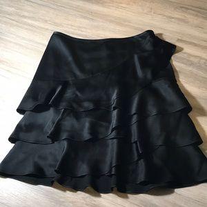New DKNY Silky Ruffle Skirt Sz 6